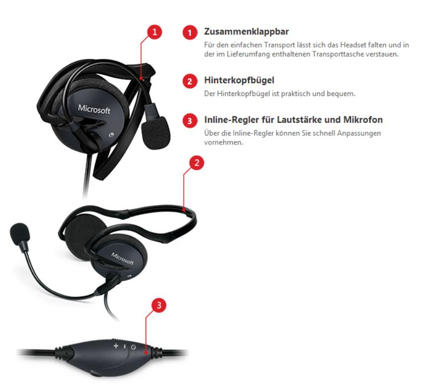 original microsoft lifechat lx 2000 headset skype zertifiziert ebay. Black Bedroom Furniture Sets. Home Design Ideas
