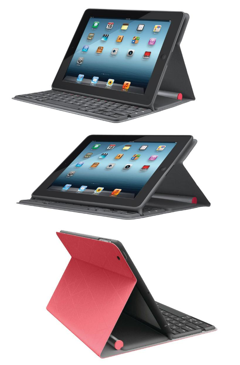 logitech solar mit akku coral tastatur folio cover apple. Black Bedroom Furniture Sets. Home Design Ideas