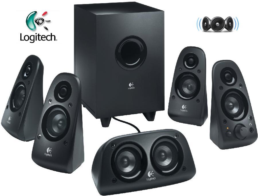 logitech z 506 5 1 surround sound 3d stereo pc computer. Black Bedroom Furniture Sets. Home Design Ideas